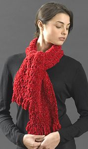 Loop Fringe #scarf free #crochet pattern