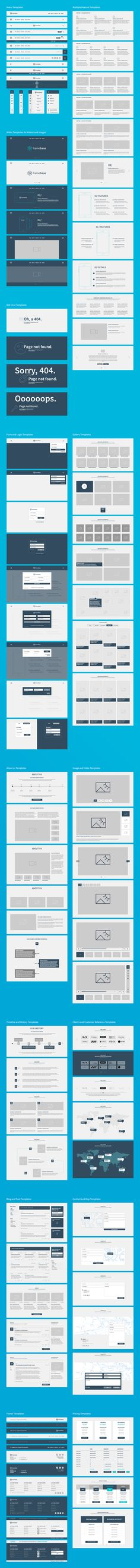 Framebase Wireframe for Webdesign and Web DevelopmentThis Wireframe Bootstrap Grid System will help you to become more effective in doing Web Design. Raise your productivity to deliver fast results to your customers and to finish the design period in …