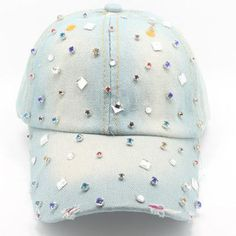 d2e4c4406d6 Country Girl Jewelry Studded White Washed Jean Hat