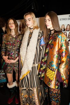 Bold prints and plenty of layering - Etro's paisley tribe showcased the label's AW17 collection at Milan Fashion Week.