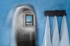 Bathroom in a boutique Hotel at Santorini.