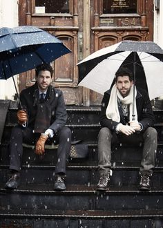 Wow - Some seriously cute guys waiting for me on the stoop...