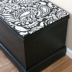 Take your furniture piece from drab to fab with a fun stencil!