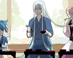 (;`・ω・)ノマジか⁉️ Anime Love, Anime Guys, Manga Anime, Touken Ranbu Characters, Vegvisir, Rurouni Kenshin, Viking Symbols, Funny Art, Funny Comics