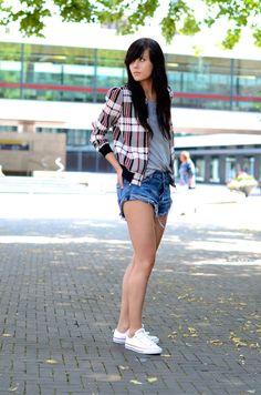 Jacket: Girls on Film via ASOS T-shirt: H&M Shorts: One Teaspoon via Nelly Trainers: Converse Watch: Triwa x Rasmus Storm