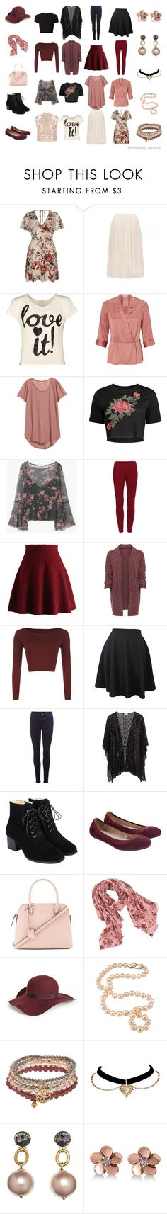 Floral four by four by gwethril on Polyvore featuring мода, River Island, WearAll, Miss Selfridge, MANGO, Chicwish, 7 For All Mankind, Accessorize, Kate Spade and Decree