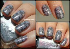 Shelby Lou Nails - Stamping Saturday: Fuzzy Houndstooth - Emily de Molly Lace Man - Zoya Geneviev - MoYou London Fashionista 09