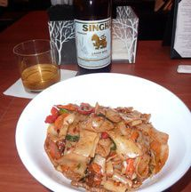 Le Thai is a good choice for an affordable meal if you like noodles and beer. Try a little family style dining and you'll realize the price is very cheap.