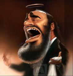 루치아노 파바로티 Luciano Pavarotti caricature 네이버 블로그