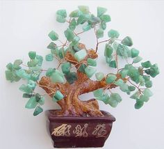 FENG SHUI NATURAL AVENTURINE JADE GEM STONE MONEY TREE