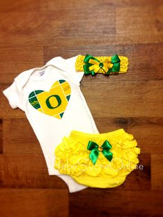 Oregon Ducks Outfit and Headband by BebeSucreOnline on Etsy, $35.00