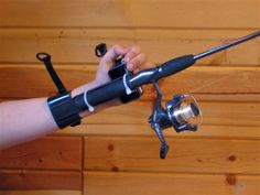 Adaptive Sports This adaptive fishing rod holder was made for those who have fine motor difficulties. It gives students an opportunity to go fishing for class or for leisure. Adaptive Sports, Adaptive Equipment, Medical Equipment, Handicap Equipment, Quadriplegic, Spinal Cord Injury, Hand Therapy, Assistive Technology, Fishing Equipment
