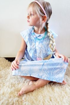 Frozen dress - Tiny pattern from Straight Grain - fabric Timeless Treasures