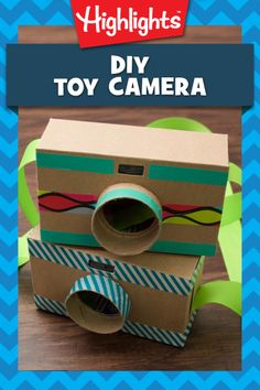 Calling all shutterbugs! This adorable camera is perfect for little ones who want to take photos but aren't ready to handle the real thing. Make this craft together, and then talk about what to photograph. Friends and family, or a rare animal