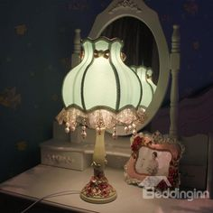 Green Lace Concise Countryside Style #Table #Lamp/ #home #decor
