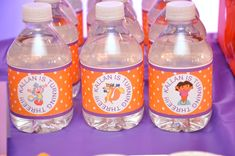 Dora the Explorer Birthday Party Ideas Girl 2nd Birthday, 4th Birthday Parties, Birthday Bash, Birthday Ideas, Theme Parties, Festa Party, Dora The Explorer, Party Ideas, Water Bottles