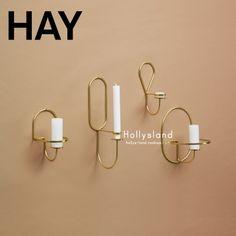 海外购丹麦正品进口HAY高端家居北欧实心黄铜LUP烛台四款可选-淘宝网
