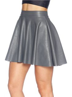 Route 66 Grey Skater Skirt - LIMITED (AU $70AUD) by Black Milk Clothing