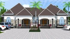 1 new message 3 Bedroom Bungalow, Modern Bungalow House, Bungalow Designs, Architect Design House, Duplex Design, Bungalow Floor Plans, Duplex House Plans, Home Building Design, Building A House