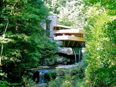 Falling Water house by Frank Lloyd Wright in Ohiopyle, PA.