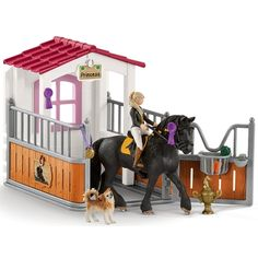 Horse Club Tori & Princess - Fresian Mare - Schleich 42437 NEW in 2018 - Figures - Horse Toy Horse Stable, Schleich Horses Stable, Horse Stables, Horse Farms, Horse Tack, Horse Barn Plans, Bryer Horses, Horse Accessories, Equestrian Outfits