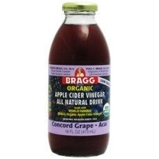 If you can't quite seem to mask the taste of your own apple cider vinegar drinks, you should try Bragg's all natural pre-mixed ACV beverages. Start with this delicious grape and acai berry flavour!