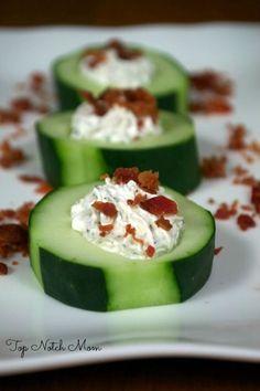 Stuffed Cucumber Cups: 5-6 long cucumbers 1 (8 oz) package cream cheese…