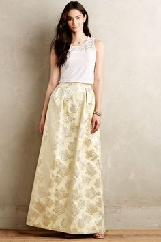 Totally LOVE This Gilded Rose Jacquard Maxi Skirt #anthrofave