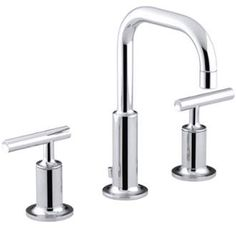 View the Kohler K-14406-4 Purist Widespread Bathroom Faucet with Ultra-Glide…