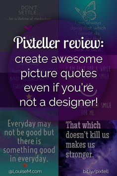 Heard of Pixteller? My readers have been telling me how awesome it is for making picture quotes, so I checked it out! See what you can do in this review.