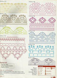 ARTES ERICA: Barradinhos de Crochê (diversos com o gráfico)