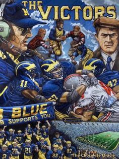 #Michigan #Wolverines #MichiganWolverines #Football #Rivalry #NCAA #CollegeFootball #Sports #TheChocolateOracle #PlayersAndCoaches #Players #Coaches