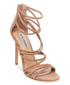 debf74f767 Steve Madden Women's Santi Strappy Sandals | macys.com Wrap Shoes, Camel  Sandals,