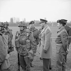 King George VI inspects paratroops of 6th Airborne Division, 16 March 1944