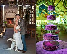 A vanilla Cake with Hot Pink frosting by Maples Wedding Cake for Miranda Lambert and Blake Shelton #WeddingSutra #weddingcakes #wedding #cakes #ideas #cakedesigns #weddinginspirations #fondant #flowers #5tier #purple #pink