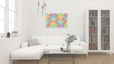 Modern Canvas Art Rainbow Wall Art Ecstasy XTC | Etsy Colorful Abstract Art, Colorful Wall Art, Colorful Paintings, Abstract Wall Art, Large Wall Art, Large Canvas, Canvas Wall Decor, Room Wall Decor, Canvas Artwork