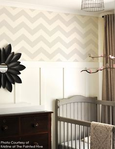Medium Chevron, Stencil: Reusable, Wall Stencil, decorative wall stencils, wall stencils, wall decor, Moroccan Stencil, chevron stencil. $35.00, via Etsy.