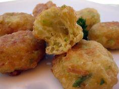 Buñuelos de calabacín veganos Baked Potato, Potato Salad, Cauliflower, Paleo, Gluten Free, Eggs, Snacks, Diet, Vegetables