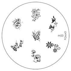 Konad Stamping Nail Art Image Plate M53 Plates Professional Designs