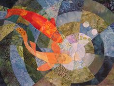 Koi Pond Quilt Fabric Art by ccollier on Etsy, $640.00  <3