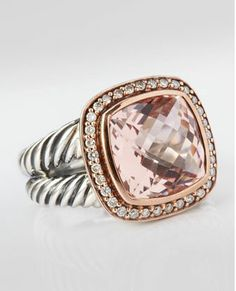 David Yurman Morganite ring in sterling silver and rose gold. Upgrade when I get my master's degree?