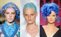 Blue hair for Spring 2012...more power to those that can rock it!