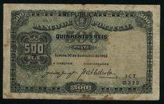 portuguese money | 500 reis similar a chapa 3 prata emissao de 30 09 1910 com sobrecarga ..