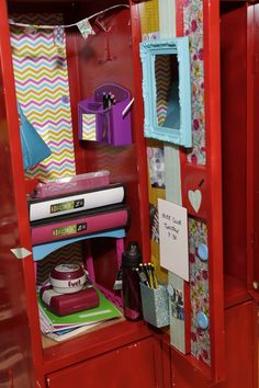 A few locker decor items and a whole lot of imagination!