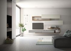 furniture arrangement ideas The free geometries, the wall architectures and the accessories are upda Living Room Wall Units, Small Living Room Furniture, Living Room Tv Unit Designs, Ikea Living Room, Living Room Modern, Living Rooms, Modern Tv Units, Casa Loft, Muebles Living