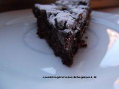 Torta tenerina al cocco-ciocco con pera ...  Tender chocolate cake with coconut and pear...