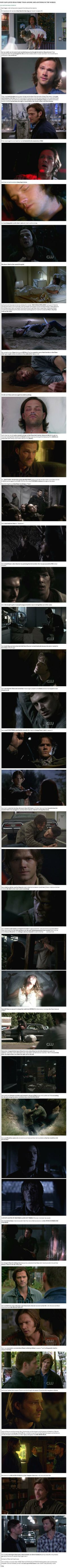 This is so true. I never really thought about what all happened with Sam while Dean was in Purgatory... Sam and Dean both love each other more than anything on earth, and anyone who tries to tell me that Sam doesn't love Dean as much as Dean loves Sam, please read this...