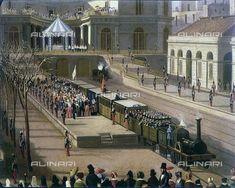 La prima ferrovia in Italia: il tratto Napoli - Portici inaugurato da re Ferdinando II di Borbone. - [Altritaliani.net]