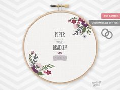ROYAL FLORAL WEDDING record counted cross stitch pattern, modern shower bride gift, diy bridal house warming, custom alphabet flower sampler