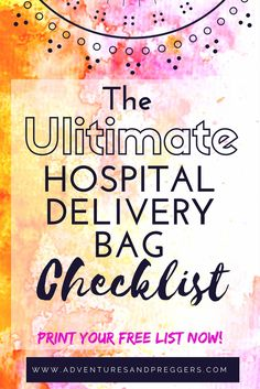 The ULTIMATE Hospital Delivery Bag Checklist- Did you pack Toilet Paper?  Hospital grade paper is not luxurious.  This and more on the ultimate hospital delivery bag checklist.  Download and print yours now!